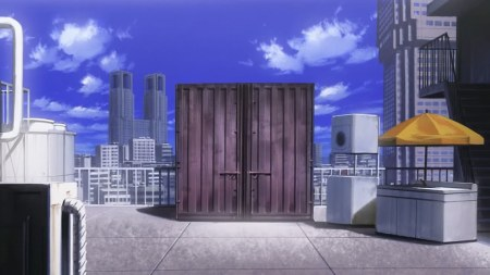 Takumi lives in one of those steel crates you find on boats/trains.